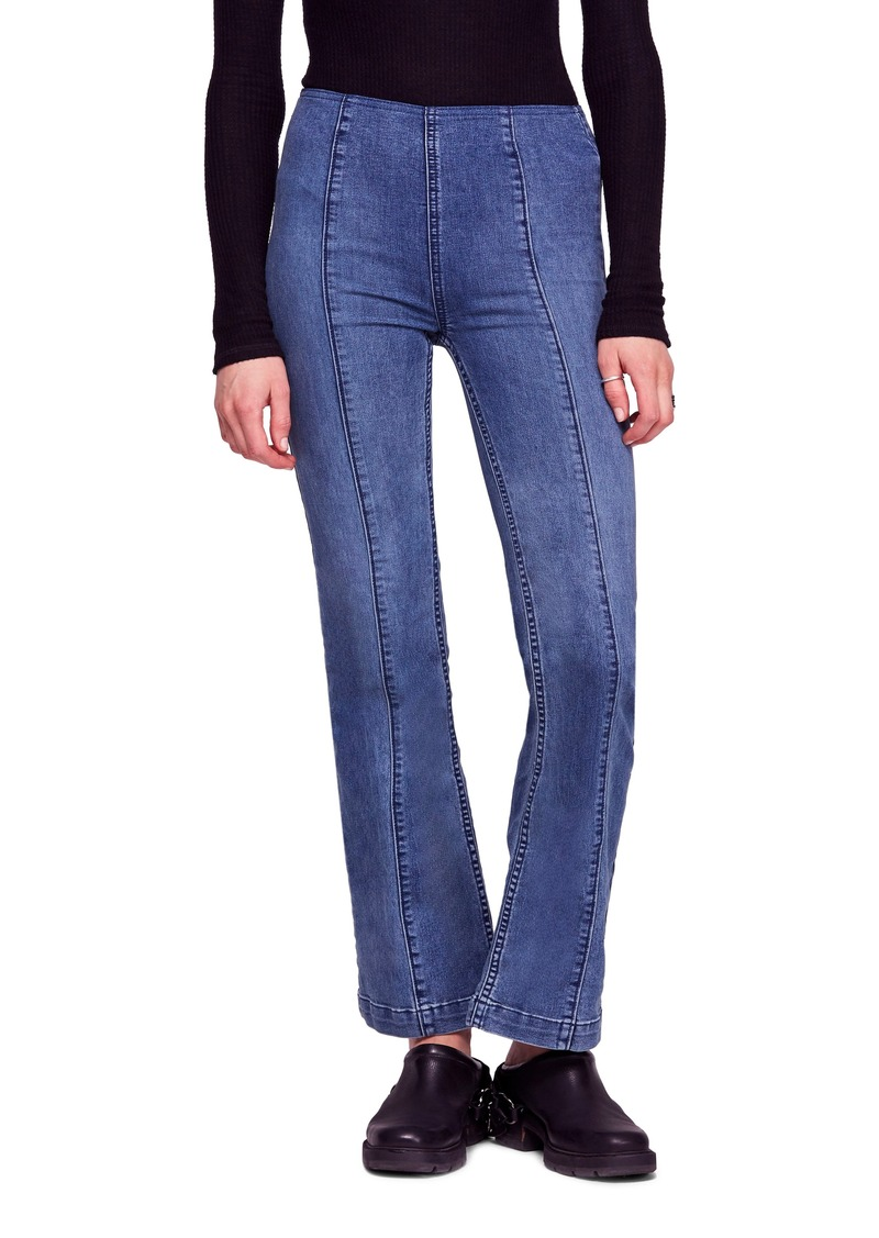 3273df93e51 Free People Free People Slim Pull-On Flare Jeans Now  46.80
