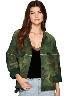 Free People Slouchy Military Jacket - Camo