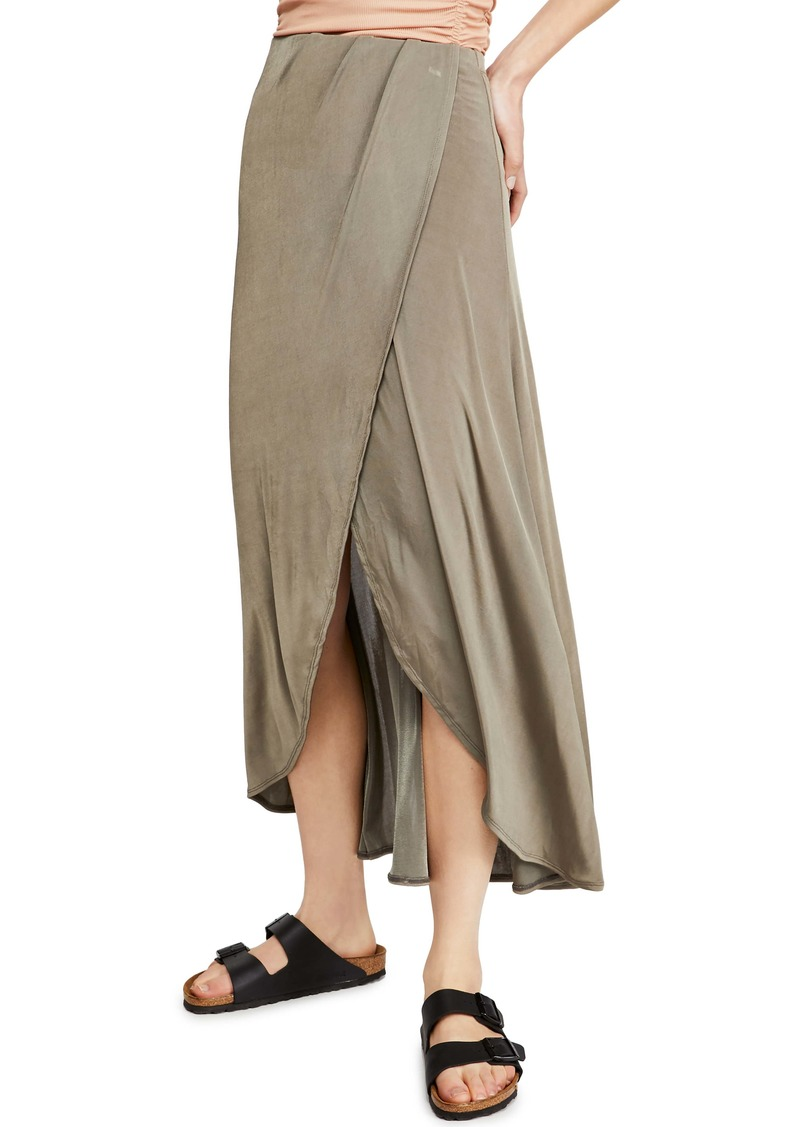 Free People Smoke & Mirrors Faux Wrap Skirt