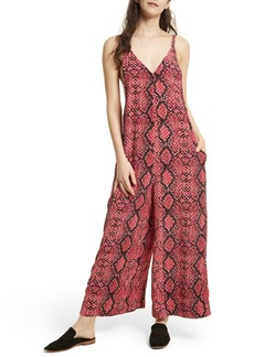 Free People Snake Print Jumpsuit