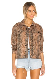 Free People Snake Trucker Jacket