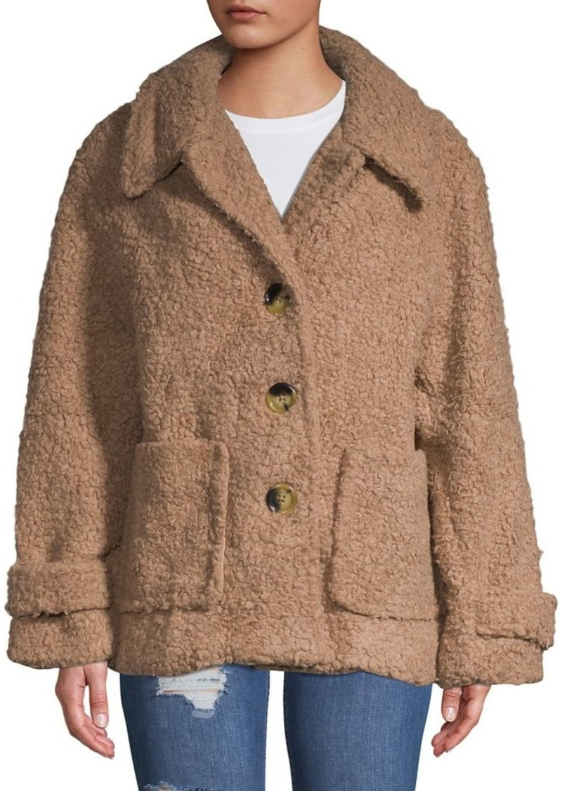 0a7980313052 Free People Free People So Soft Cozy Teddy Peacoat