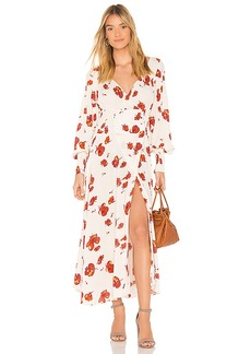 Free People So Sweetly Midi Dress in Ivory. - size L (also in M,S,XS)