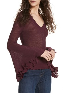 Free People Soo Dramatic Bell Sleeve Top