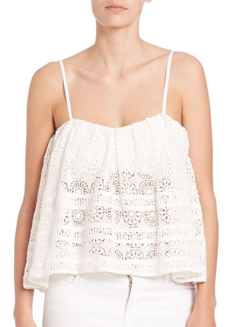 Free People Spaghetti Strap Lace Cami Top