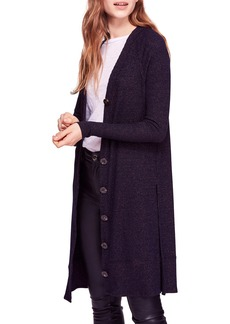 Free People Sparkly Long Cardigan