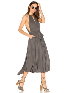 Free People Spring Love Midi Dress in Gray. - size L (also in M,S)