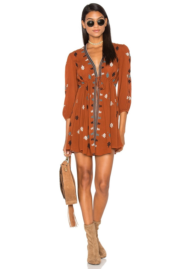 Free People Star Gazzer Embroidered Dress