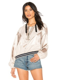 Free People Starshine Quarter Zip Jacket