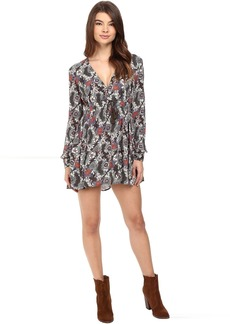 Free People Stealing Fire Mini Dress