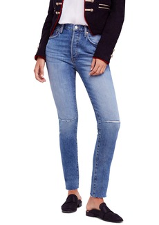 We the Free by Free People Stella High Waist Raw Hem Skinny Jeans (Regular & Petite)