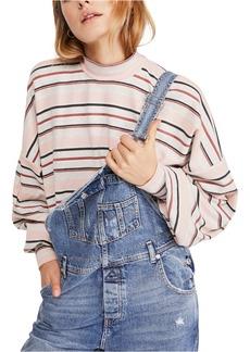 Free People Steph Stripe Mock Neck Shirt