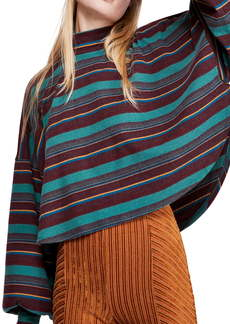 Free People Steph Stripe Mock Neck Shirt