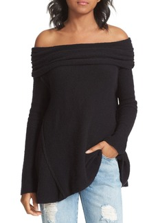 Free People 'Strawberry Fields' Off the Shoulder Sweater