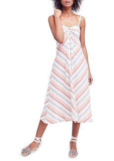 Free People Striking Stripe Midi Dress