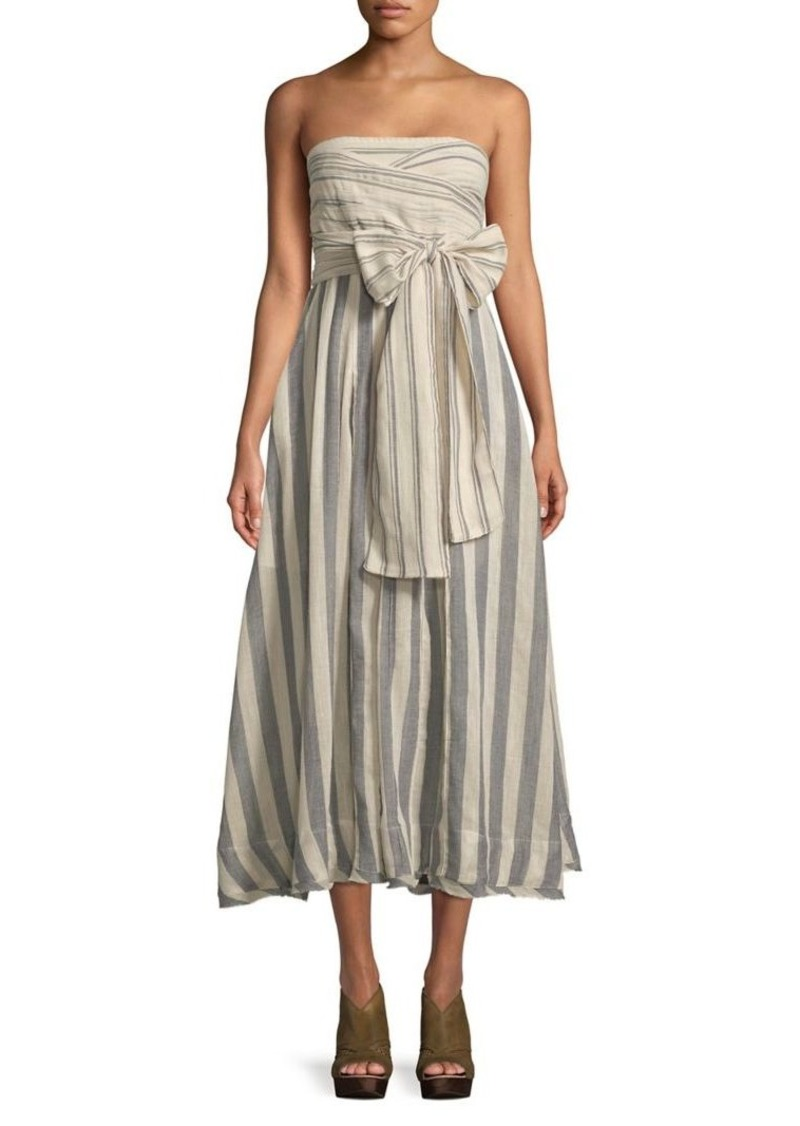 On Sale today! Free People Free People Stripe Me Up Strapless Bow Dress