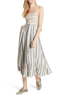 Free People Stripe Me Up Strapless Midi Dress