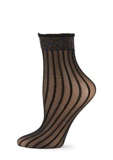 Free People Striped Sheer Low-Top Socks