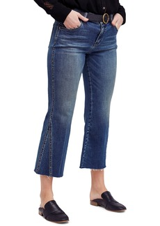 Free People Studded Crop Flare Jeans