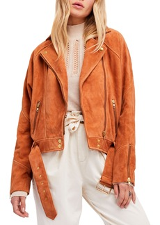 Free People Suede Moto Jacket