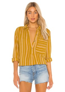 Free People Summer Breeze Stripe Button Down