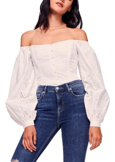 Free People Summer Fling Off the Shoulder Top