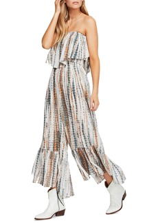 Free People Summer Vibes Strapless Jumpsuit