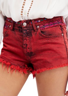 Free People Sun Break Embellished Cutoff Shorts