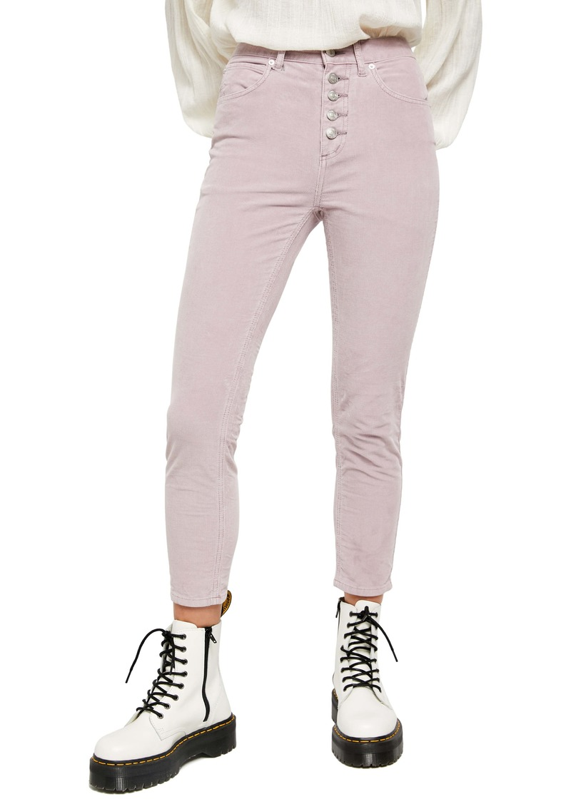 Free People Sun Chaser High Waist Crop Skinny Corduroy Pants