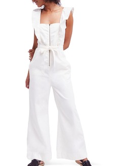 Free People Sun Valley Ruffle Jumpsuit