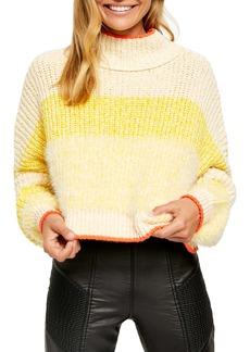 Free People Sunbrite Mock Neck Crop Sweater