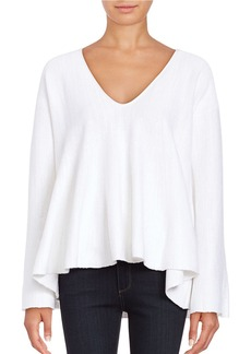 FREE PEOPLE Sundae Bell-Sleeved Trapeze Knit Pullover