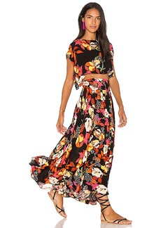 Free People Sundown Printed Set in Black. - size M (also in S,L)