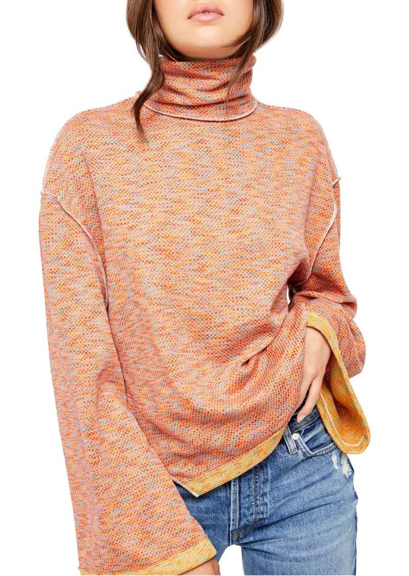 Free People Sunny Days Stretch Cotton Turtleneck Top