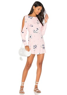 Free People Sunshadows Mini Dress in Pink. - size 0 (also in 2,4,6,8)