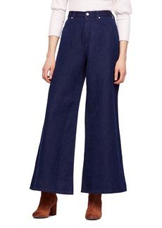 Free People Super High Waist Wide Leg Jeans