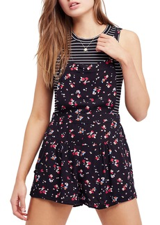 Free People Sweet in the Streets Short Overalls