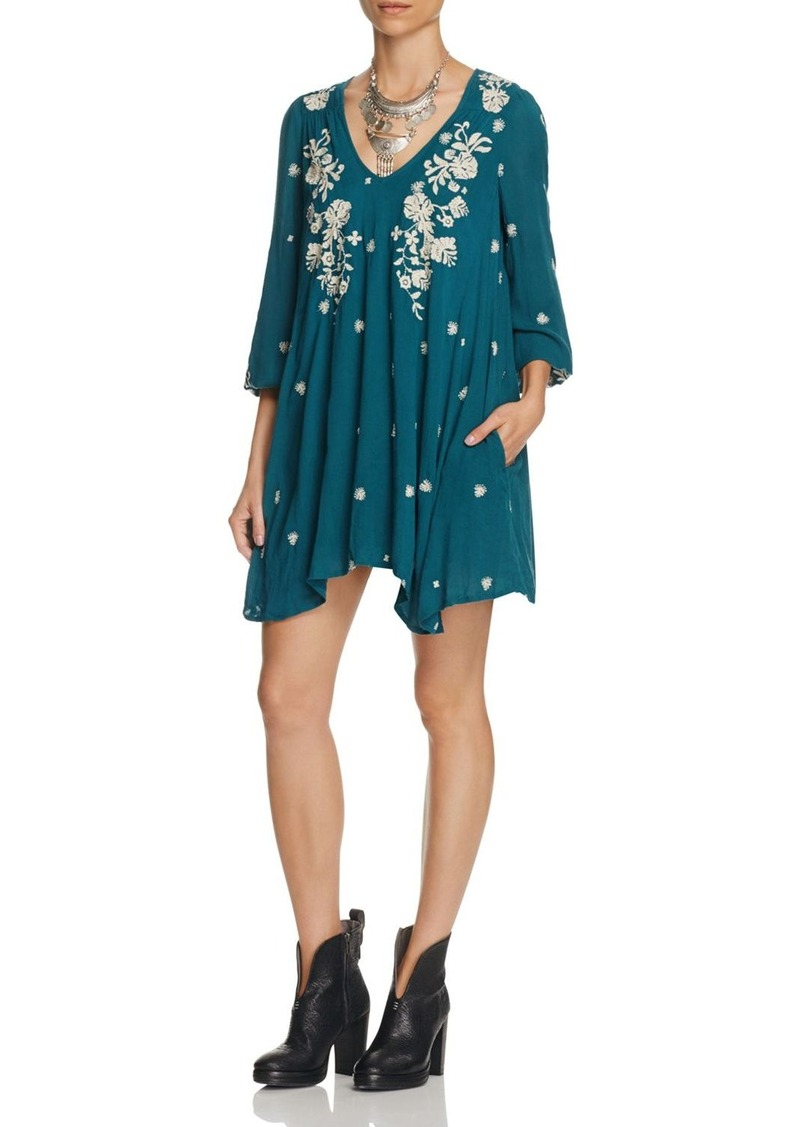 Free People Sweet Tennessee Embroidered Dress