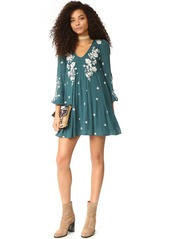 Free People Sweet Tennessee Embroidered Mini Dress