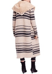 7653e7763 Free People Free People Sweetest Thing Faux Fur Hooded Sweater Coat ...
