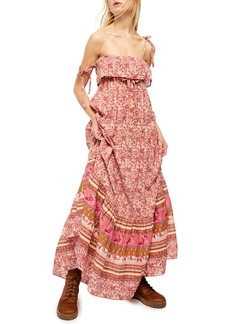 Free People Tangier Tie Shoulder Maxi Dress