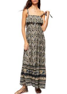 Free People Tangier Tie Shoulder Maxi Dress
