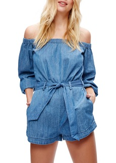 Free People Tangled in Willows Off the Shoulder Romper