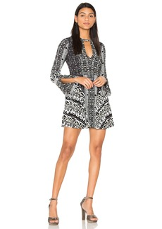Free People Tegan Boarder Printed Mini Dress