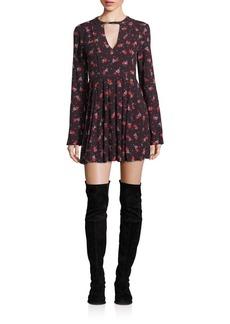 Free People Tegan Floral-Print Mini Dress