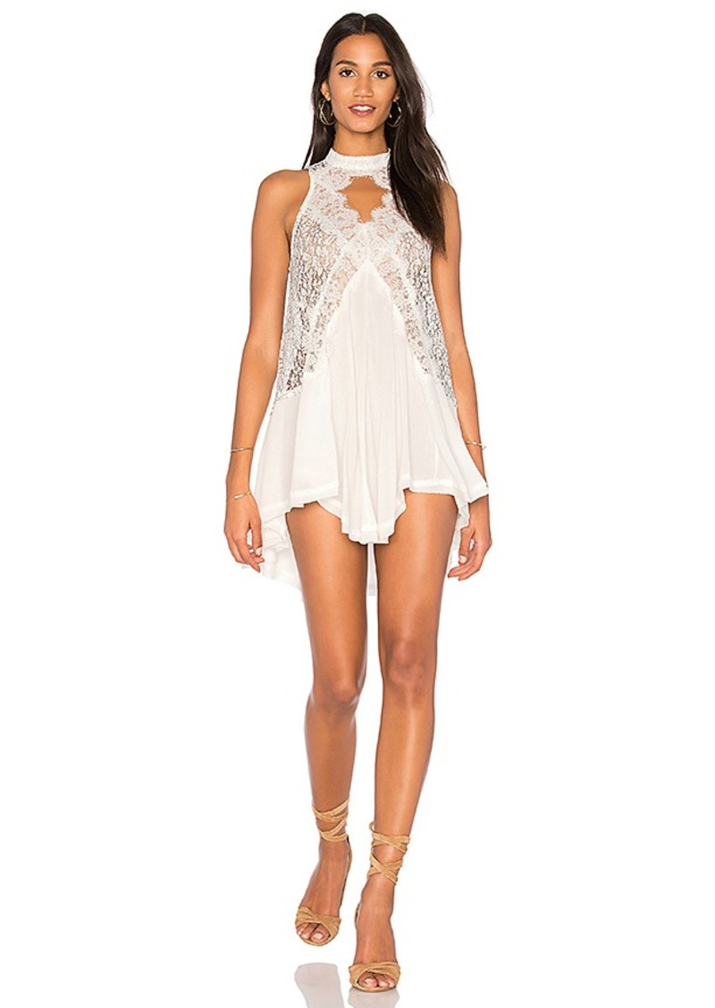 Free People Tell Tale Heart Sleeveless Top in Ivory. - size L (also in M,S,XS)