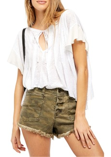 Free People Terra Keyhole Slub T-Shirt