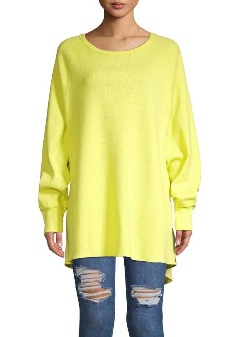 Free People Textured Cotton Sweatshirt