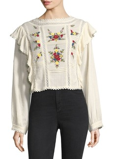 Free People The Amy Embroidered Top