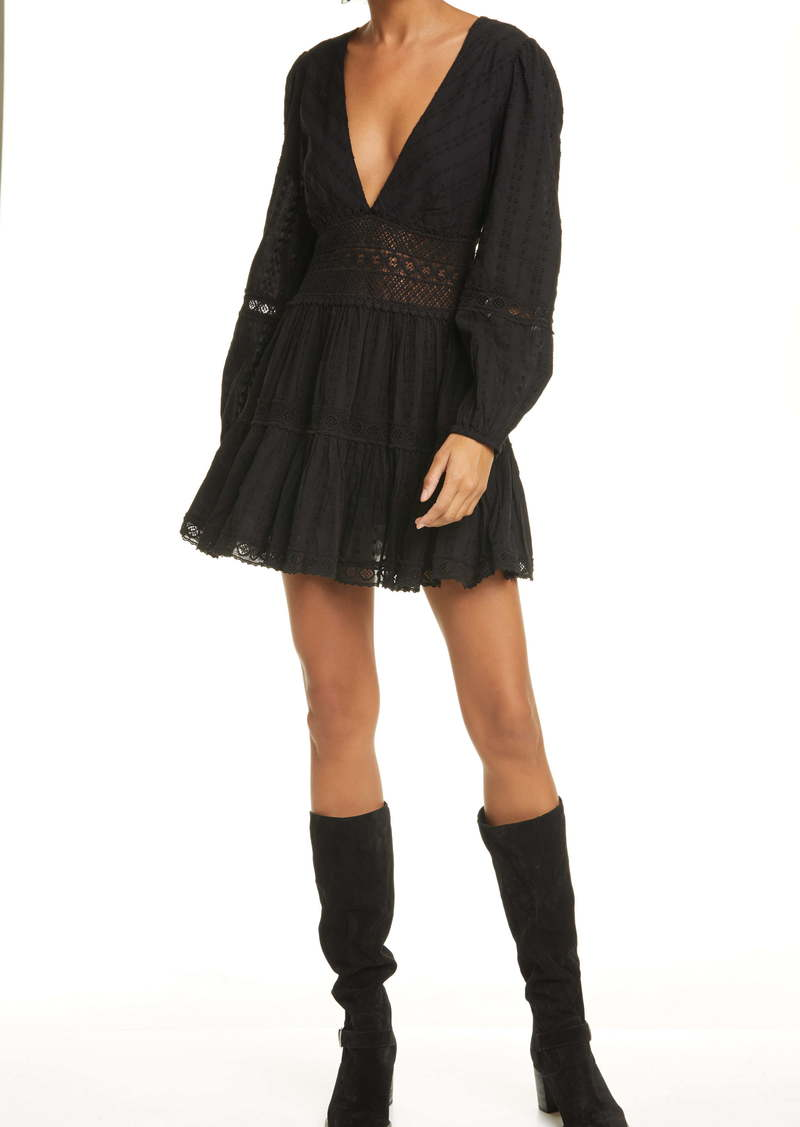 Free People The Delightful Long Sleeve Minidress